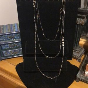 SILPADA .925 SS & Bead 3-Tiered Necklace